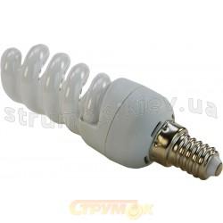 Лампа энергосберегающая 9 вт E14 spiral теплобелая КЛЛ Volta