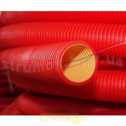 Гофрированная двухслойная гибкая труба д90мм (20м) без муфты ДКС 121990N