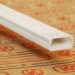 Кабельный короб LHD 40X20 HD 2м Копос Чехия 8595057610170 пластиковый белый цвет