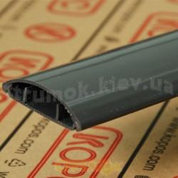 Кабельный напольный короб LO 50 LD Копос Чехия 8595057662216 пластиковый темно - серый 50х11мм