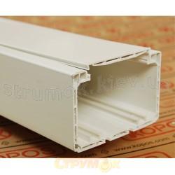 Кабельный парапетный короб PK 140X70 D HD 2м Копос Чехия 8595057632912 пластиковый белый цвет