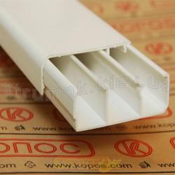 Кабельный плинтусный короб LP 80X25 HD 2м Копос Чехия 8595057609471 пластиковый белый цвет