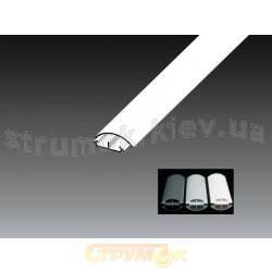Кабельный короб напольный LO 50 50 x 15 НD Копос Чехия белый цвет