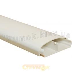 Короб плинтусный 90х25мм RAL9016, ДКС 09200