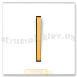 Клавиша 1-одинарная белый/оранжевый лед Neo 3559M-A00651 43