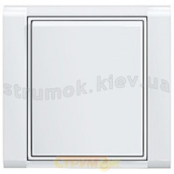 Клавиша 1-одинарная ABB Time 3558Е-А00651 01 белый/ледяной белый