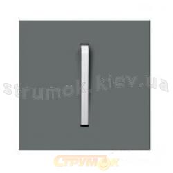 Клавиша 1-одинарная графит/белый лед Neo 3559M-A00651 61