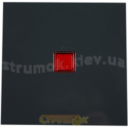 Клавиша с красной линзой 1-клавишная (антрацит) FIORENA 22009110