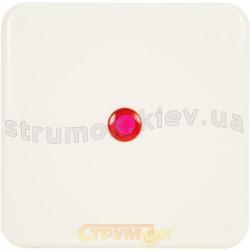 Клавиша 1-одинарная с красной линзой Regina 13009806 Hager / Polo белый цвет