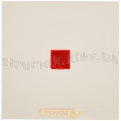 Клавиша 1-одинарная с красным окошком Fiorena 22009103 Hager / Polo слоновая кость