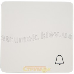 Клавиша 1-одинарная Звонок Optima 12008702 Hager / Polo белый цвет