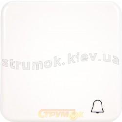 Клавиша 1-одинарная Звонок Regina Hager / Polo 13009307 белый цвет