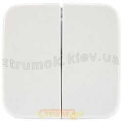 Клавиша 2-двойная 2505-214 ABB Reflex белый цвет
