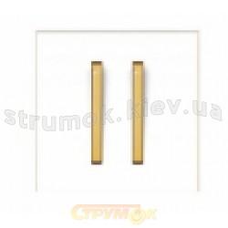 Клавиша 2-двойная белый/оранжевый лед Neo 3559M-A00652 43