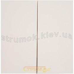 Клавиша 2-двойная Fiorena 22009602 Hager / Polo белый цвет