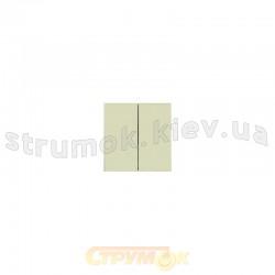 Клавиша 2-двойная Fiorena металлик 22009609 Hager / Polo