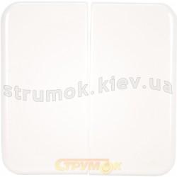 Клавиша 2-двойная Regina 13010309 Hager / Polo белый цвет