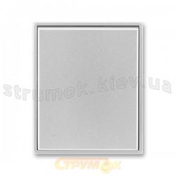 Клавиша выключателя 1-клавишная 3558Е-А00651 ABB Time element Tango серебряный металлик