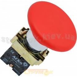 Кнопка грибок Стоп XB2 - BС42 красная