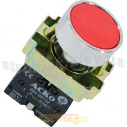 Кнопка красная стоп XB2-ВА42-NС IP40 без фиксации АСКО