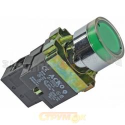 Кнопка зеленая с подсветкой ХВ2-ВW3371 АСКО