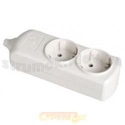 Колодка | кассета 2-гнезда с заземлением SOLERA 21.0006:8002
