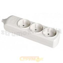 Колодка   кассета 3-гнезда с заземлением SOLERA 21.0007:8003