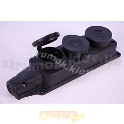 Розетка Z (с заземлением) каучук 1*16А 3101-308-0300
