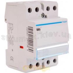 Контактор бесшумный магнитный модульный Hager ESC440S 230В/40A 4НО 3м