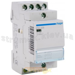 Контактор Hager ESC428 25A катушка 220V 3NO+1NC (ES444)