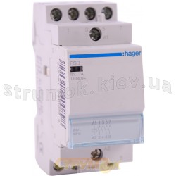 Контактор Hager ESD463 63A 4NO катушка 24V