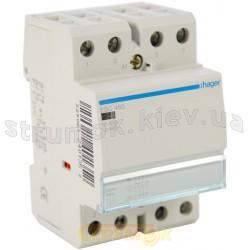 Контактор Hager ESС465 63А катушка 220V 2NO+2NC  (ES470)