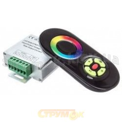 Контроллер RGB 18А радио-сенсорный #55/1 черный