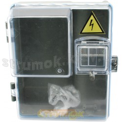 Коробка под счетчик 1-фазный КДЕ-1.1 (прозрачная)