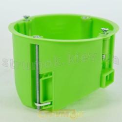 Коробка установочная для пустотелых стен наборная Ø 65 HW050 (металлические ушки) зеленая, ІР30