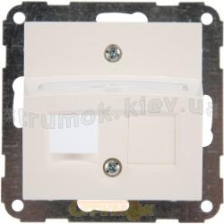 Корпус 2-двойной розетки RJ-12 / RJ-45 Fiorena 22029902 Hager / Polo белый цвет