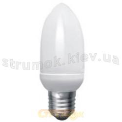 Лампа енергосберегающая КЛЛ Мини свеча E-27 11W, 2700K, CММ27W11A Odeon