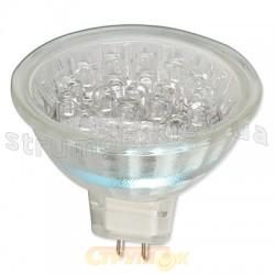 Лампа галогенная Delux MR16 12V 20 Led G5.3 белая
