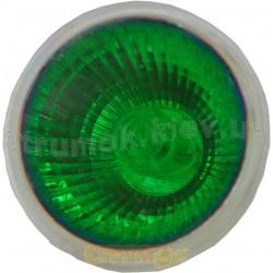 Лампа галог. DELUX МR16 12V, 50W,зеленая