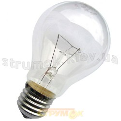 Лампа накаливания 100 вт 230 Вольт Е27 прозрачная, стандартная
