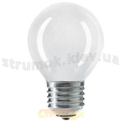 Лампа накаливания Philips Р-45 E27 40W матовая, шар