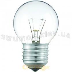Лампа накаливания Philips Р-45 E27 40W прозрачная, шар