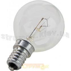 Лампа накаливания ДС230-240 60Вт Е14 шар (прозрачная)
