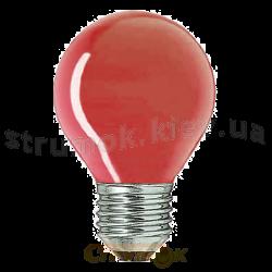 Лампа накаливания Philips Р-45 E27 15W красная. шар