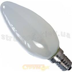 Лампа накаливания Philips В-35 E14 60W матовая свеча