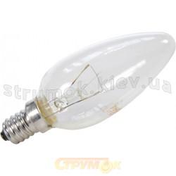 Лампа накаливания E-14 60W прозрачная свеча В-35 Philips
