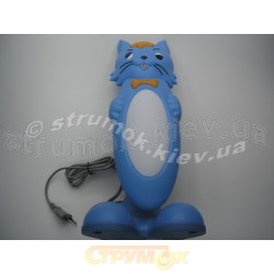 Лампа настольная HL036 синяя кот