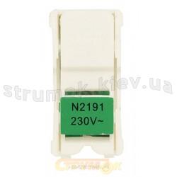Лампа подсветки светодиодная ABB Zenit N2191 VD для клавишных и однополюсных выключателей зеленый цвет