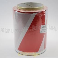 Лента сигнальная красно-белая 80мм х 100метров (Бухта 100метров)