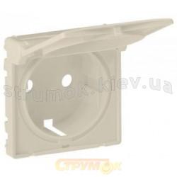 Панель для розетки 2К+3 с заземлением и крышкой Valena Life 754841 крем